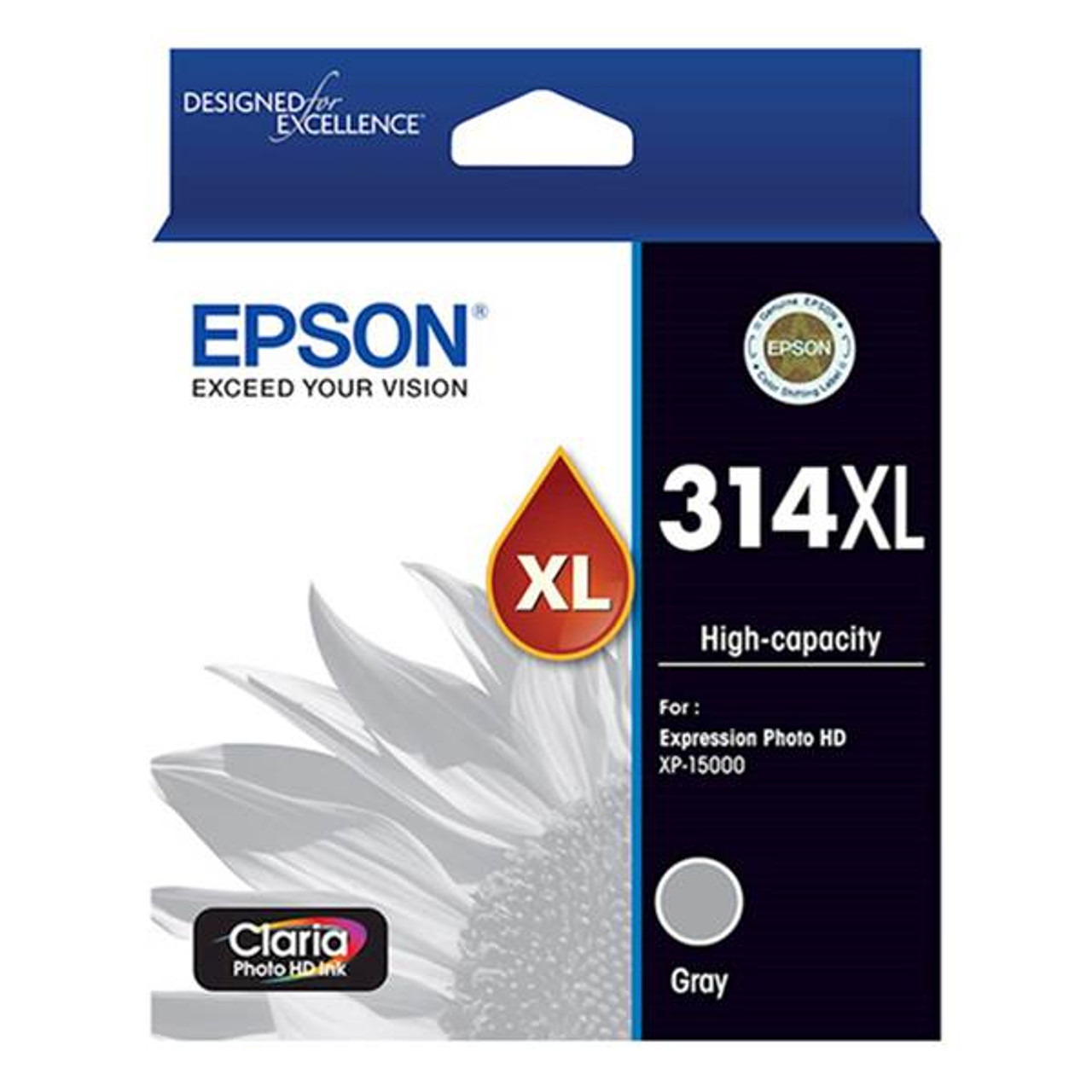 Image for Epson 314XL High Capacity Claria Photo HD Gray Ink Cartridge CX Computer Superstore