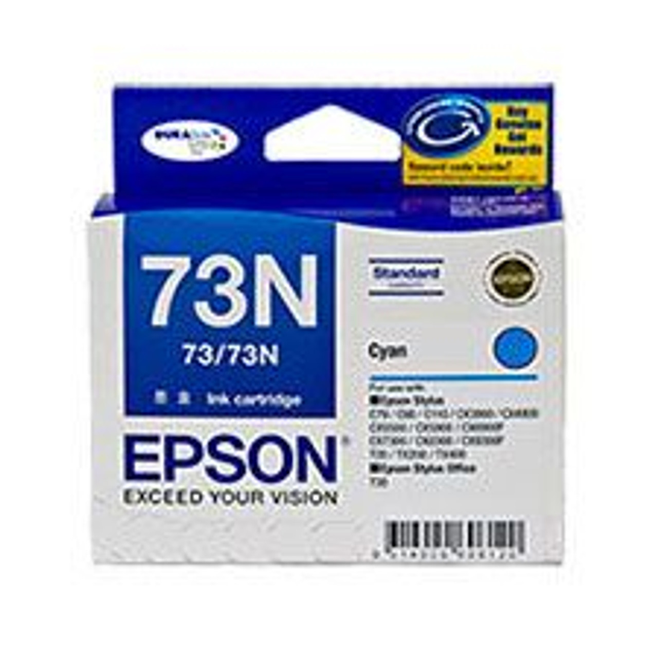 Image for Epson 73/73N Cyan Ink Cartridge (T105292) CX Computer Superstore