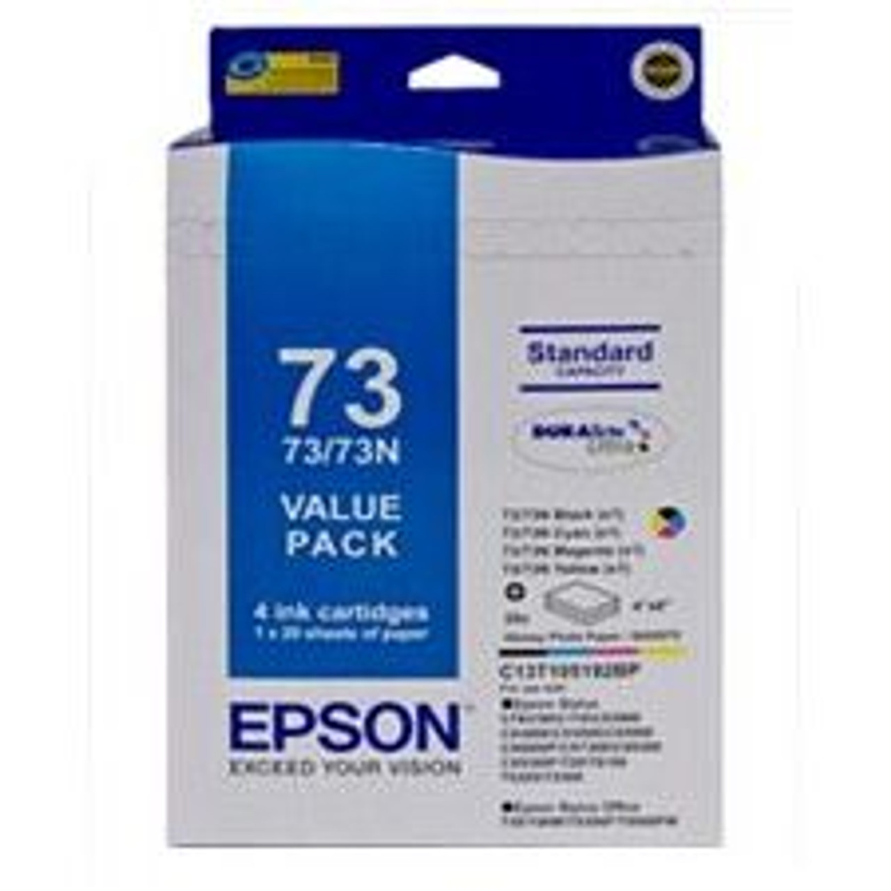 Image for Epson 73/73N Value Pack Cartridge Paper Kit (T105192BP) CX Computer Superstore
