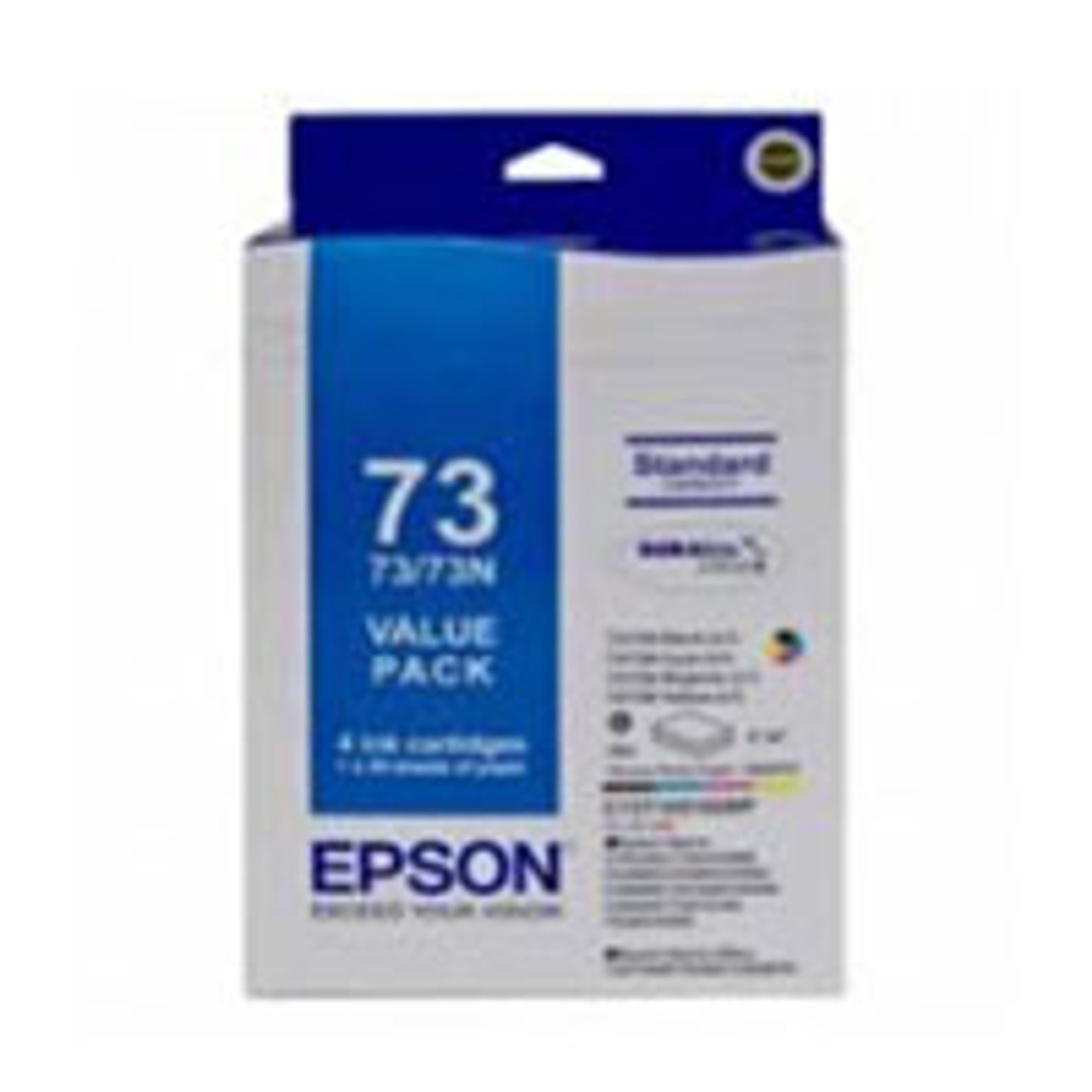 Image for Epson 73N - Standard Capacity DURABrite Ultra - Ink Cartridge Value Pack CX Computer Superstore