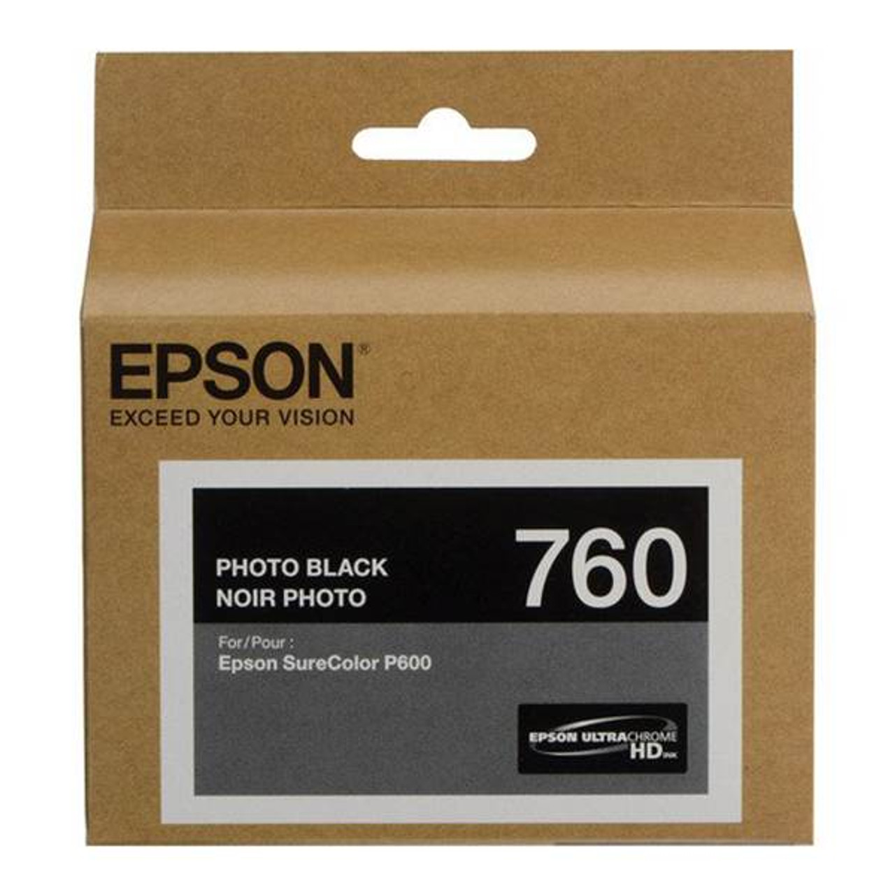 Image for Epson 760 UltraChrome HD Photo Black Ink Cartridge CX Computer Superstore