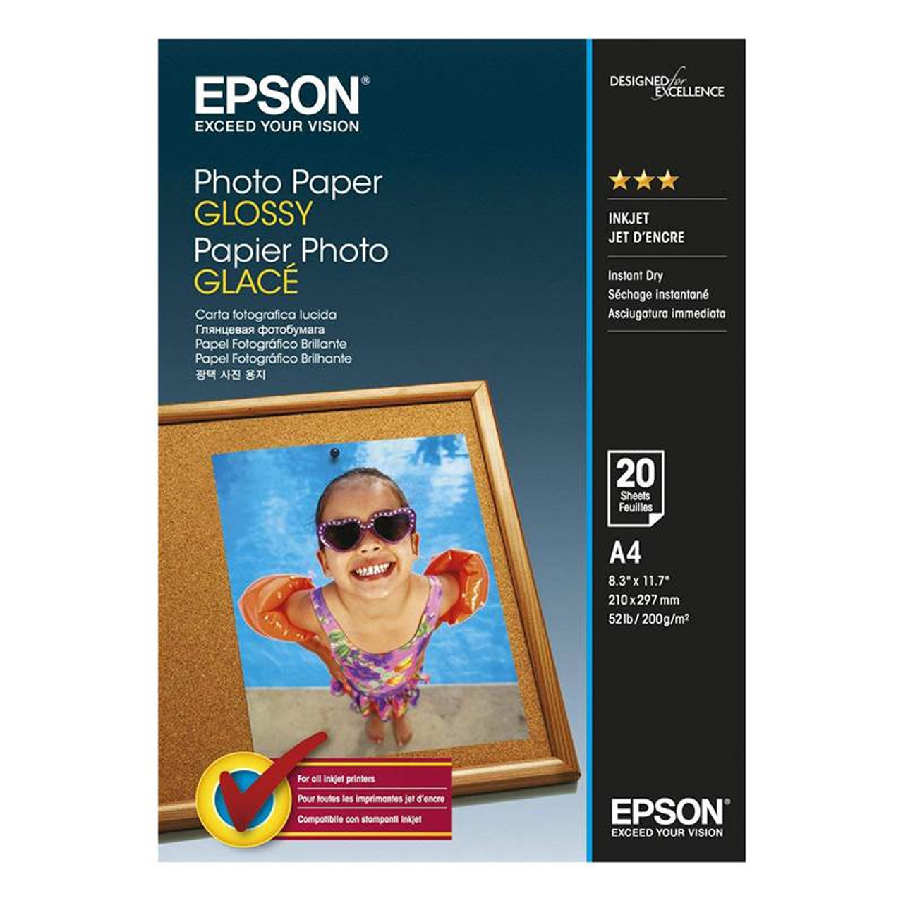 Image for Epson A4 Glossy Photo Paper 20 sheets CX Computer Superstore