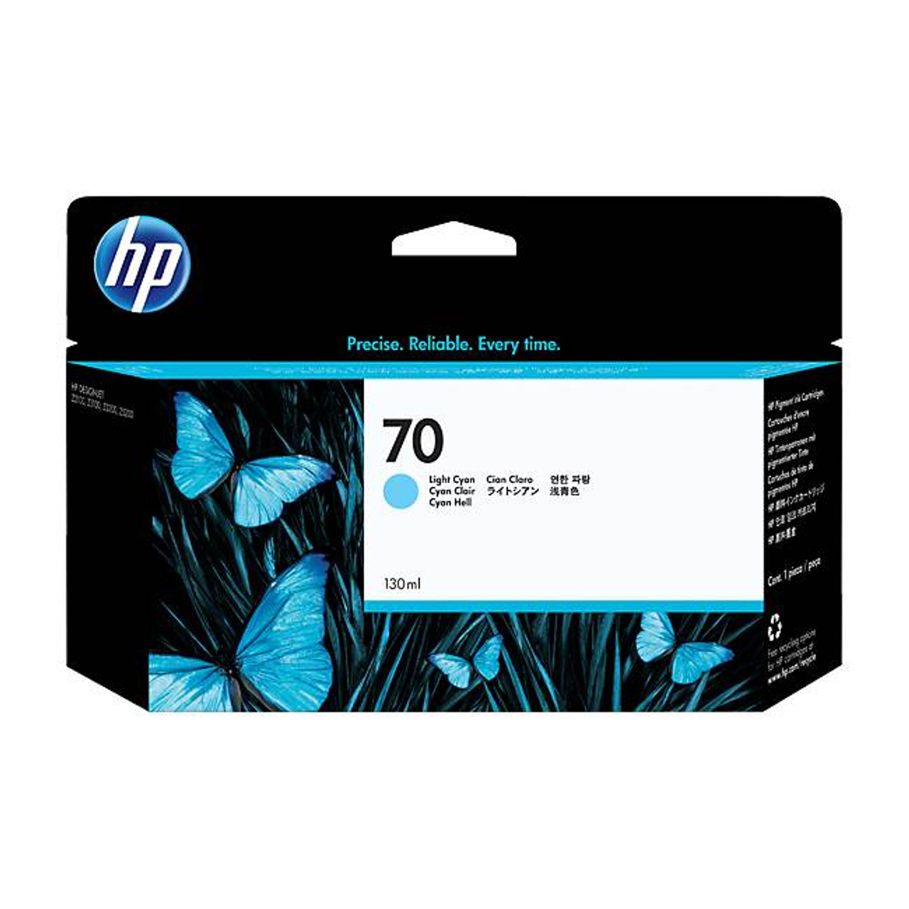 Image for HP 70 130ml Light Cyan Ink Cartridge (C9390A) CX Computer Superstore