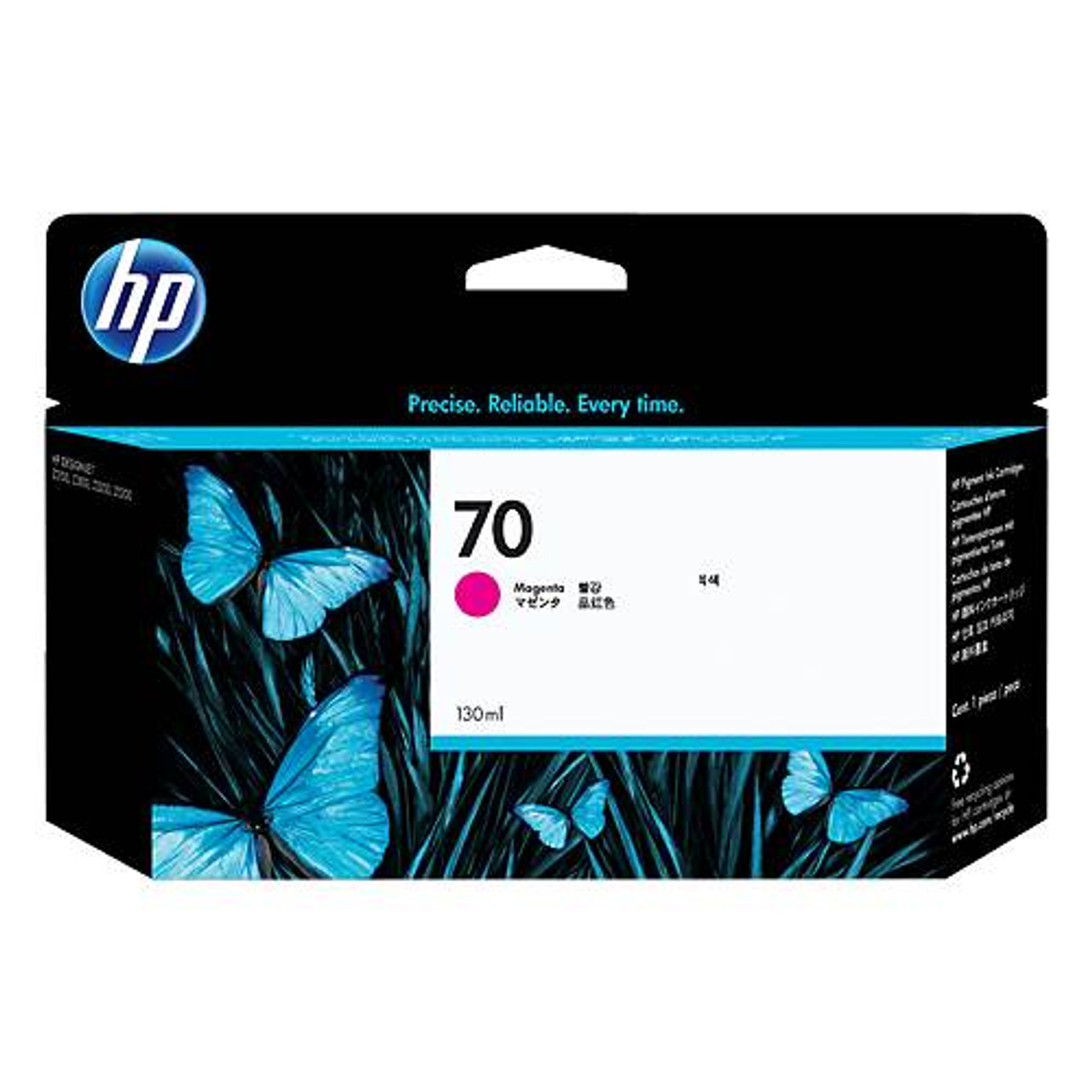 Image for HP 70 130ml Magenta Ink Cartridge (C9453A) CX Computer Superstore