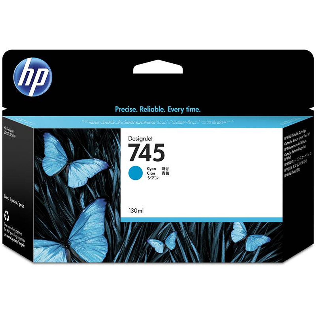 Image for HP745 130ML Ink Cartridge - Cyan (F9J97A) CX Computer Superstore