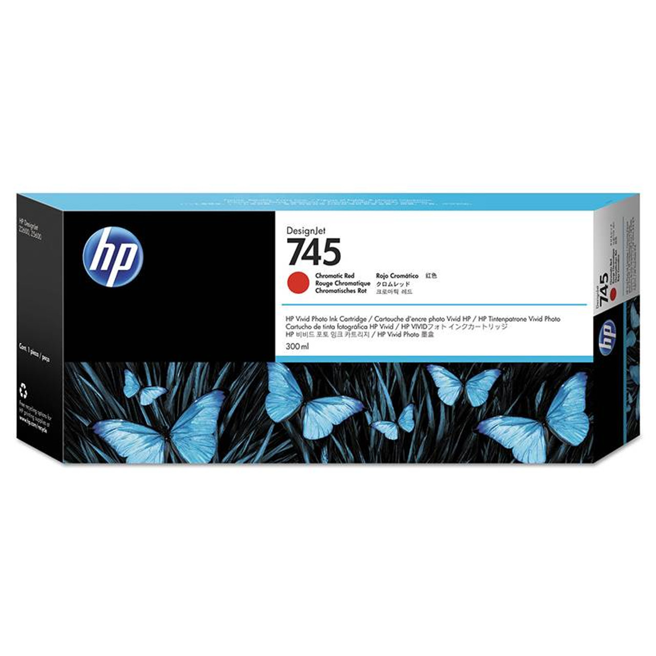Image for HP745 300ML Ink Cartridge - Chromatic Red (F9K06A) CX Computer Superstore