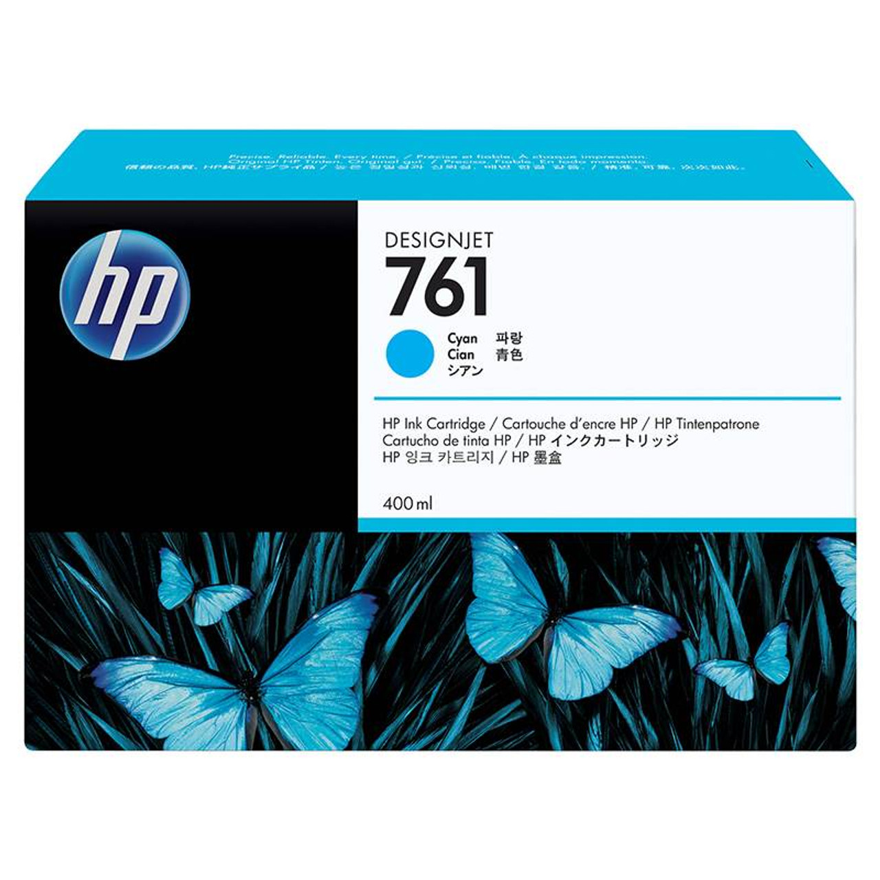 Image for HP761 400ML DesignJet Ink Cartridge - Cyan (CM994A) CX Computer Superstore