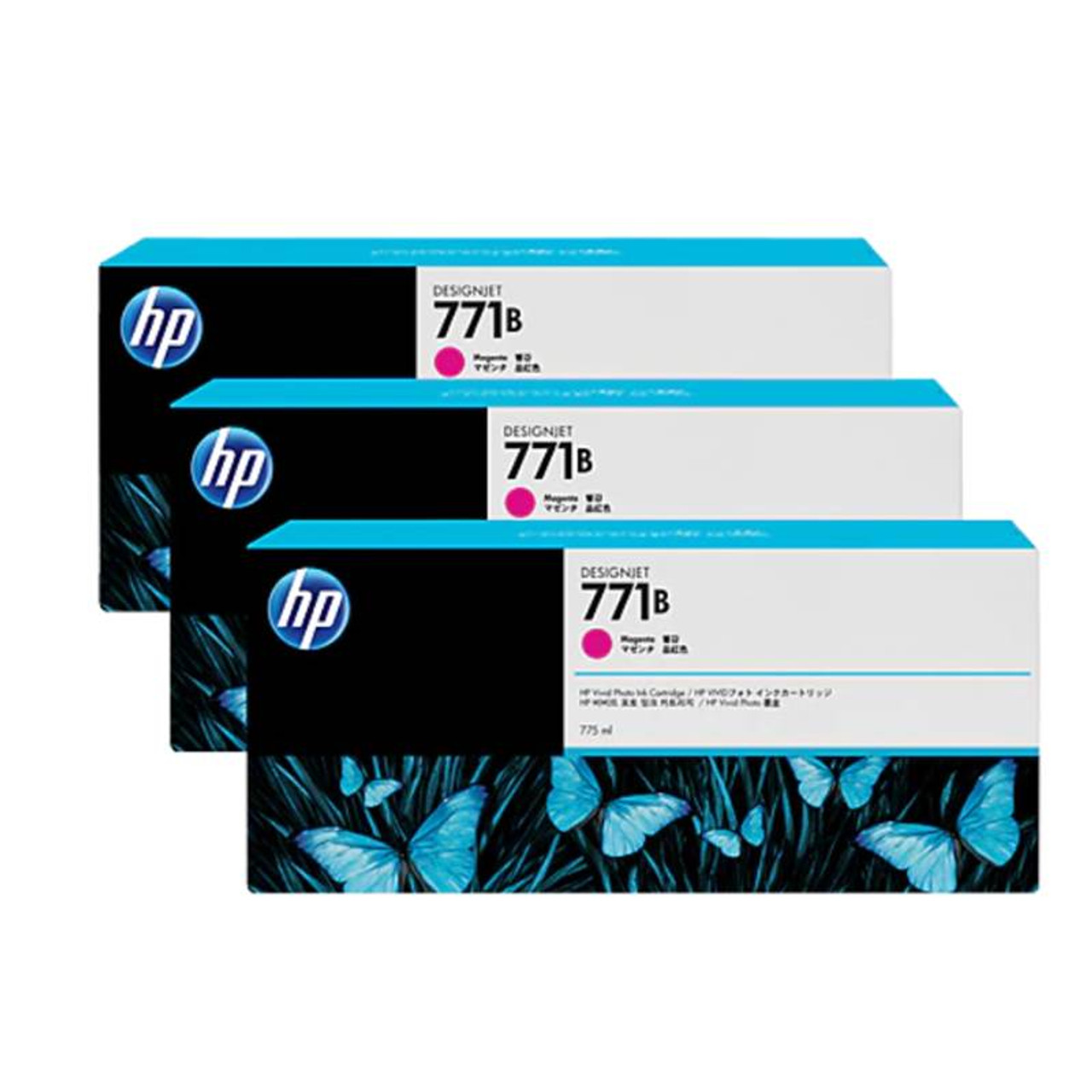 Image for HP771B 775ML 3-Pack Ink Cartridge - Magenta (B6Y25A) CX Computer Superstore