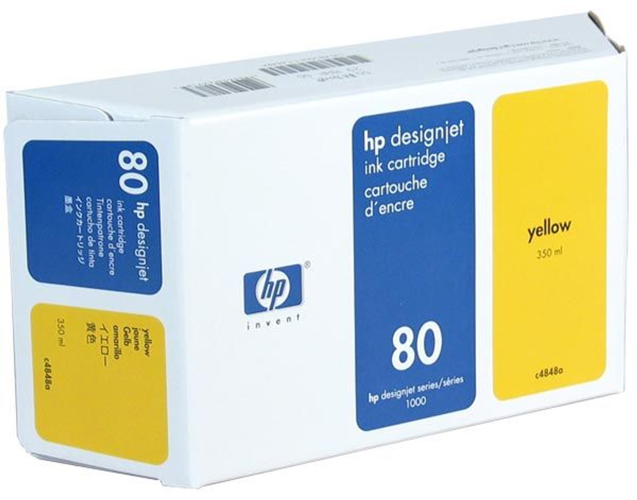 Image for HP 80 Yellow Ink Cartridge 350ml (C4848A) CX Computer Superstore
