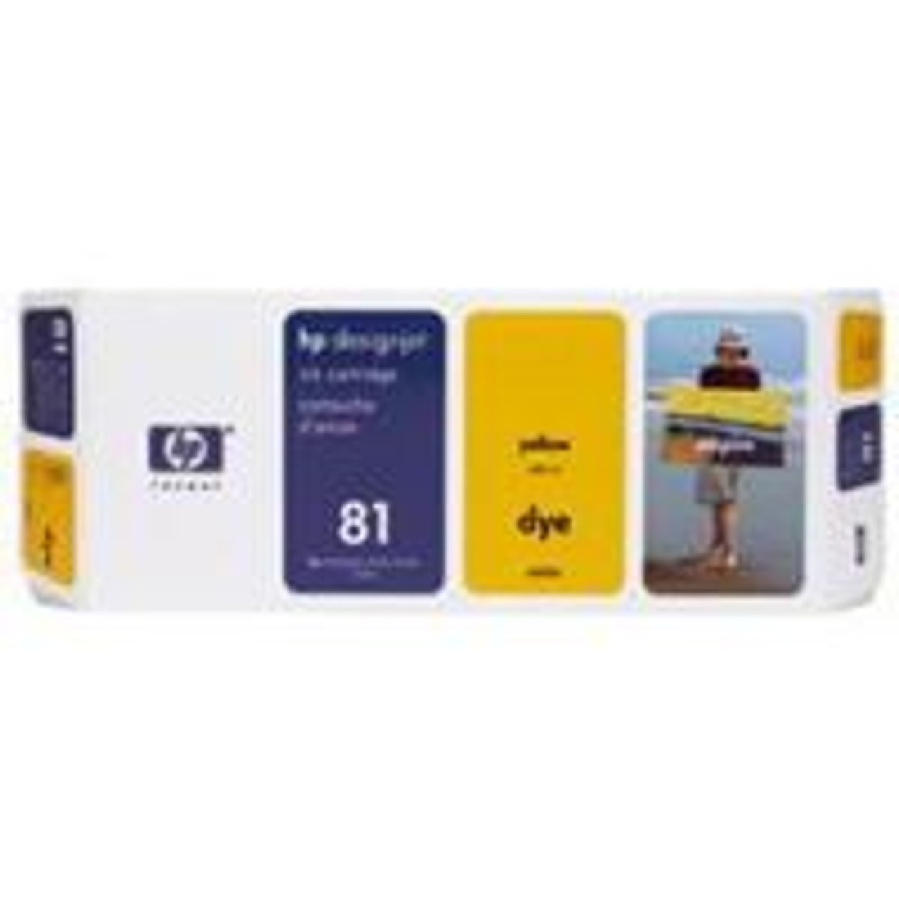 Image for HP 81 Yellow Dye Ink Cartridge (C4933A) CX Computer Superstore