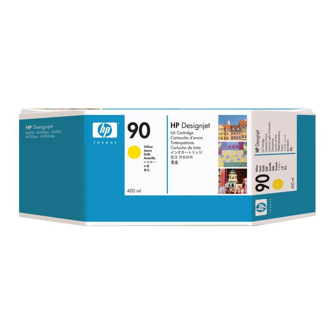 Image for HP 90 Yellow 400ml Ink Cartridge (C5065A) CX Computer Superstore