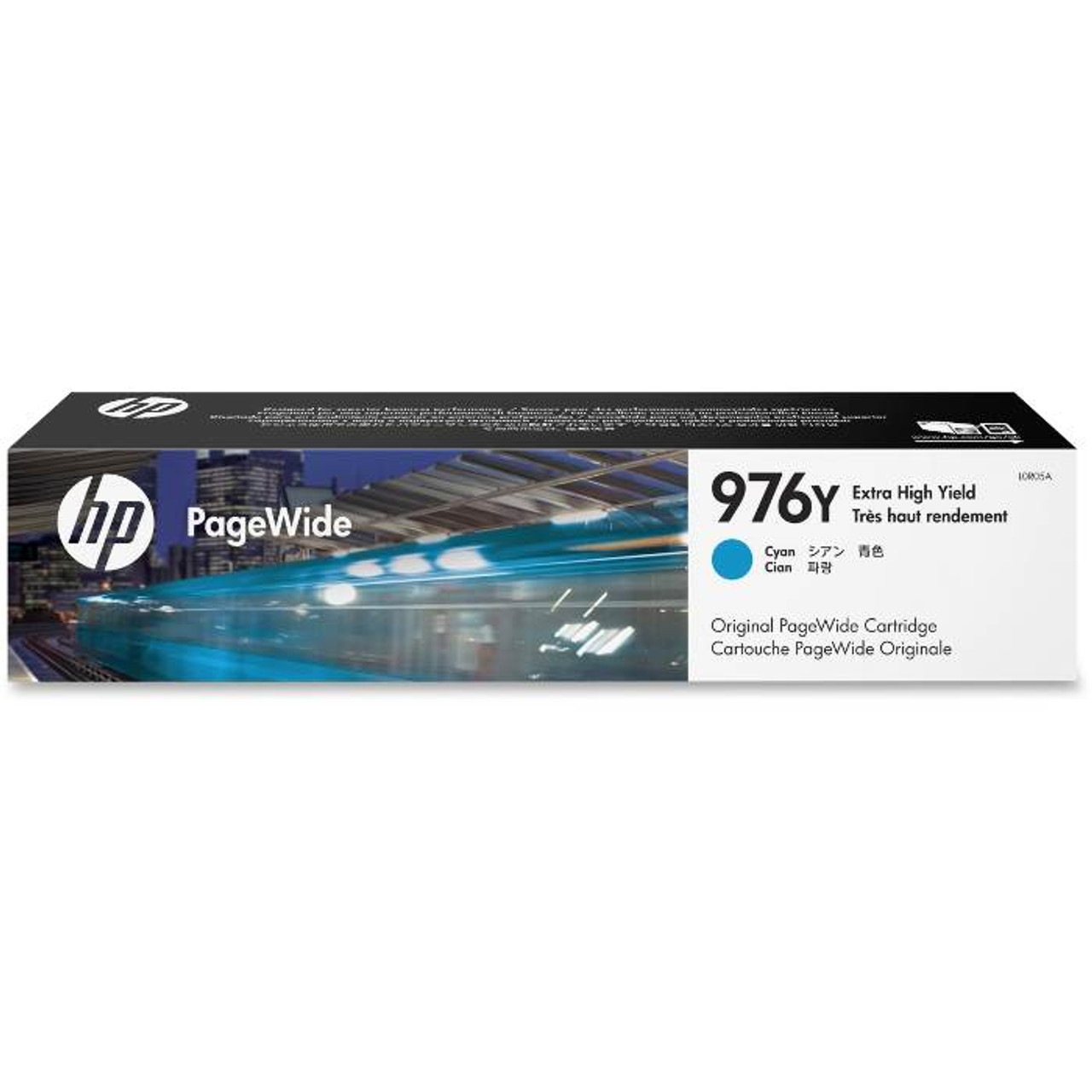 Image for HP 976Y Extra High Yield Cyan Original PageWide Cartridge (L0R05A) CX Computer Superstore