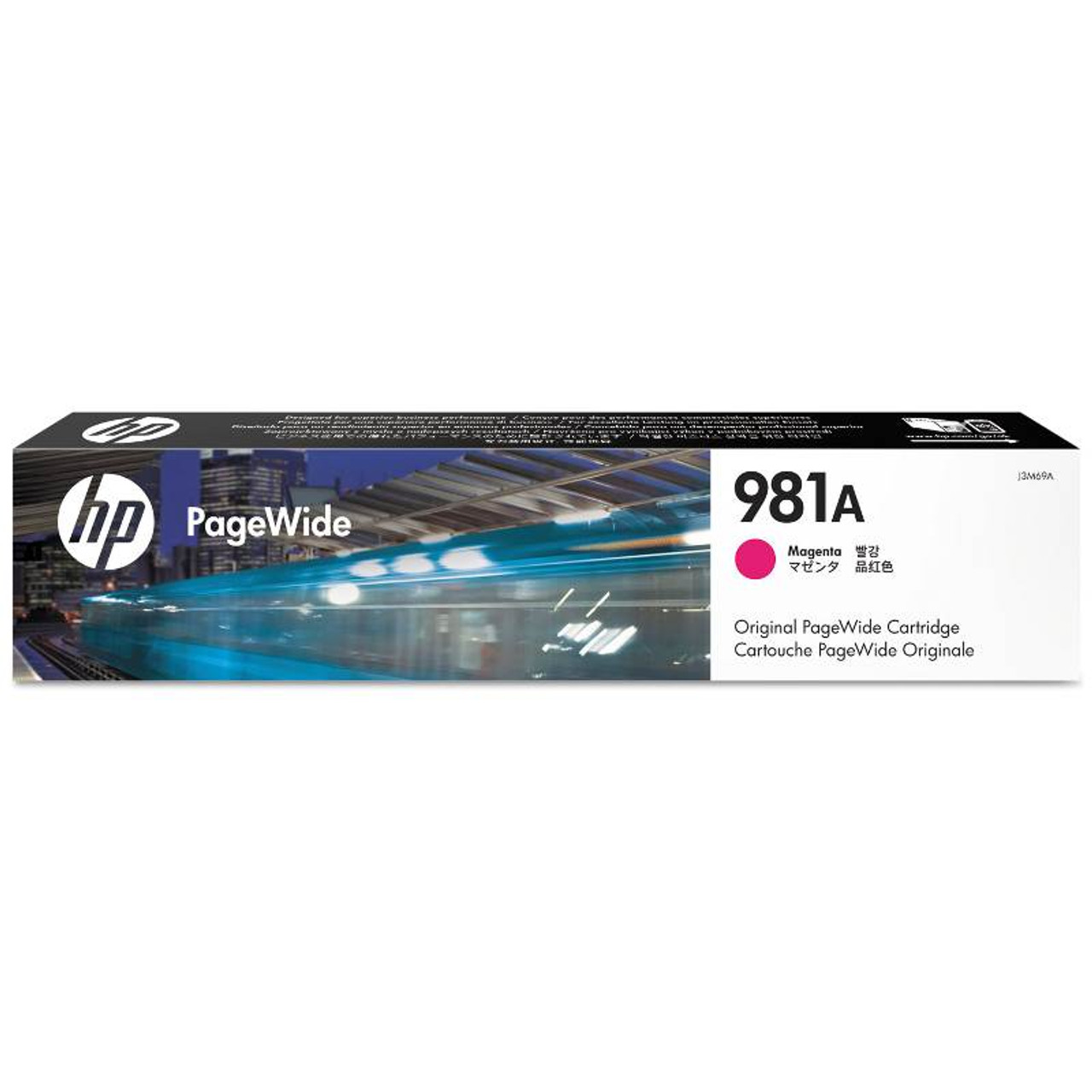 Image for HP 981A Magenta Original PageWide Cartridge (J3M69A) CX Computer Superstore