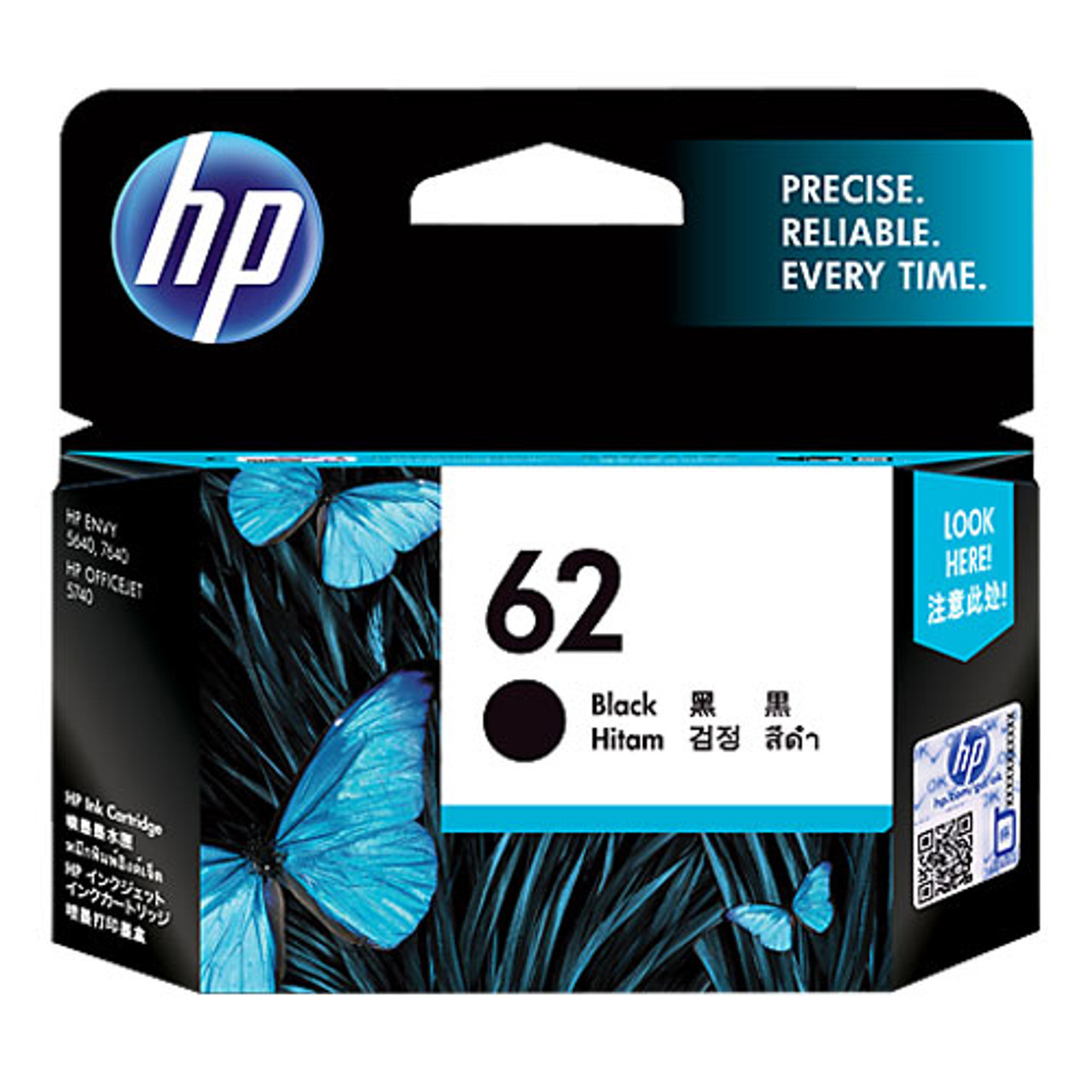 Image for HP #62 Black Ink Cartridge C2P04AA 200 pages CX Computer Superstore