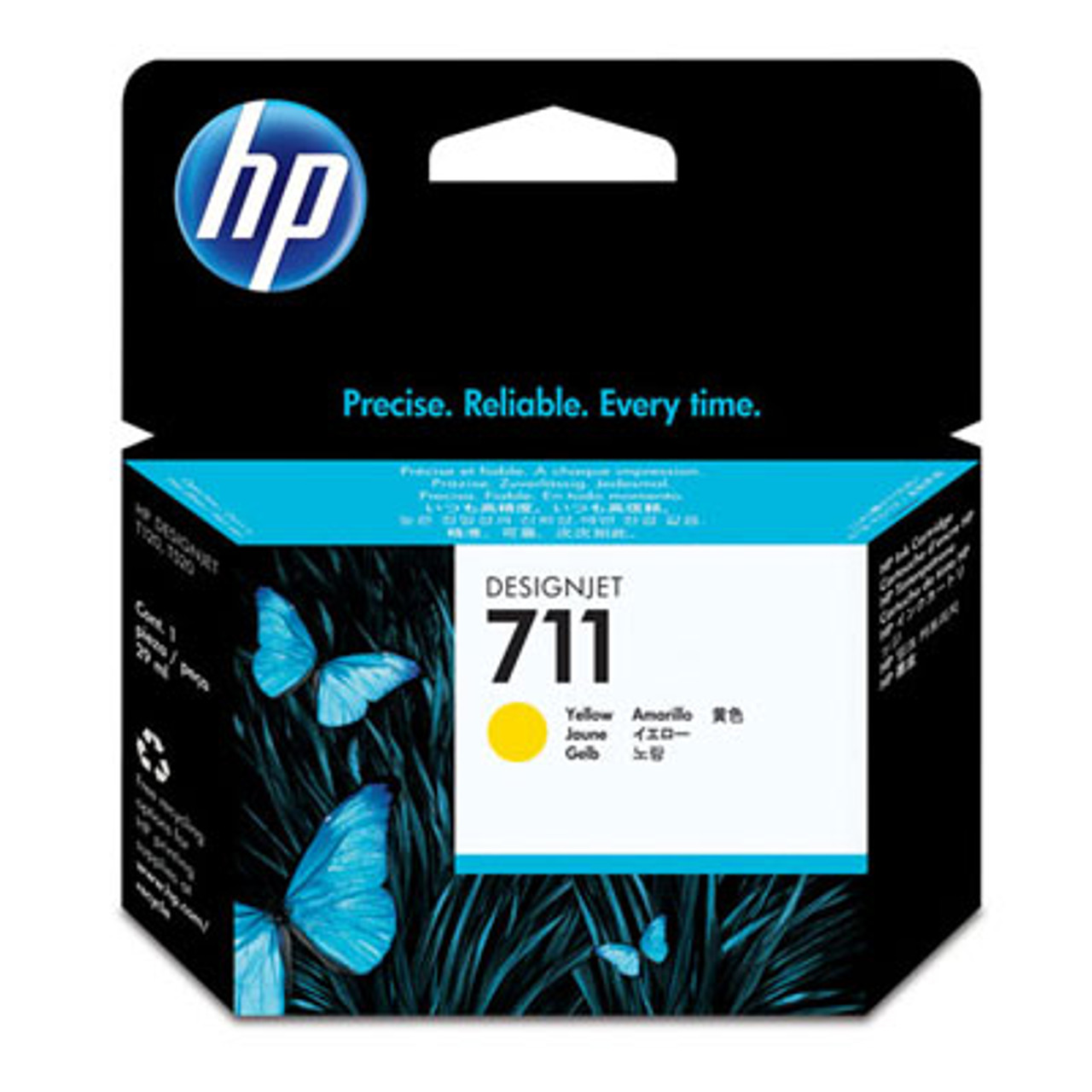 Image for HP 711 29-ml Yellow Ink Cartridge CZ132A CX Computer Superstore
