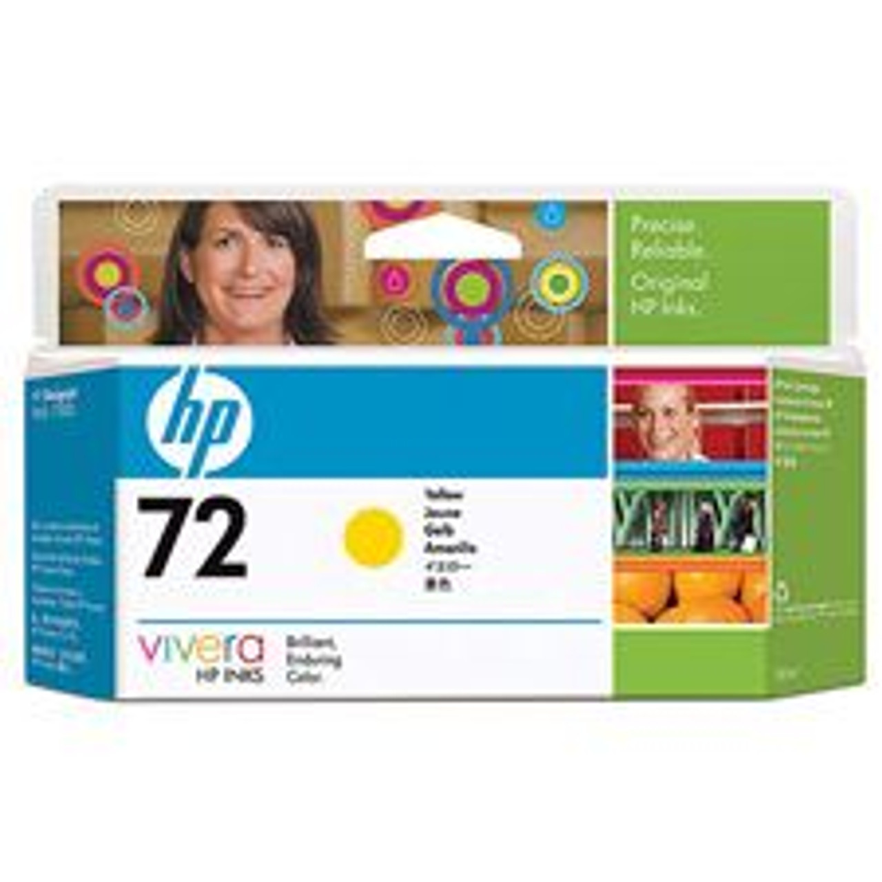 Image for HP 72 130-ml Yellow Ink Cartridge for Designjet C9373A CX Computer Superstore