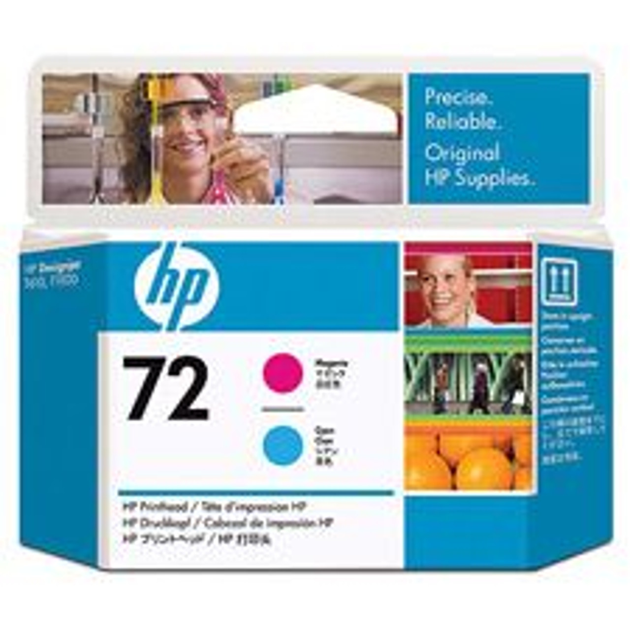 Image for HP 72 Magenta and Cyan Printhead (C9383A) CX Computer Superstore