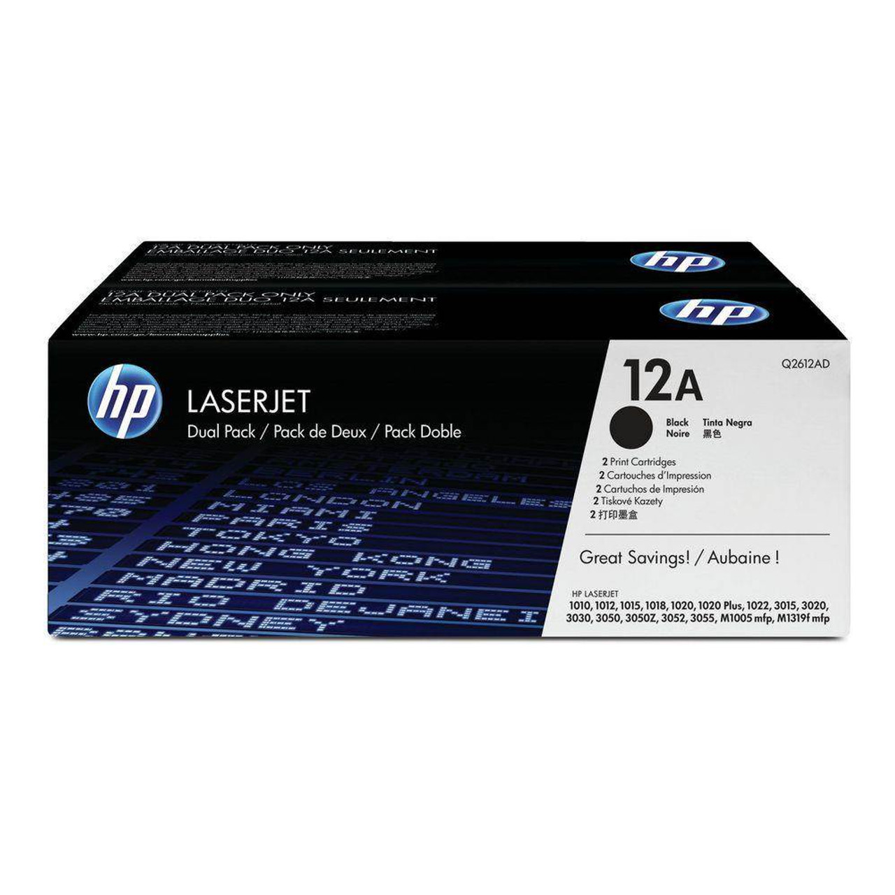 Image for HP LaserJet Q2612AD Dual Pack Black Print Cartridges for CX Computer Superstore