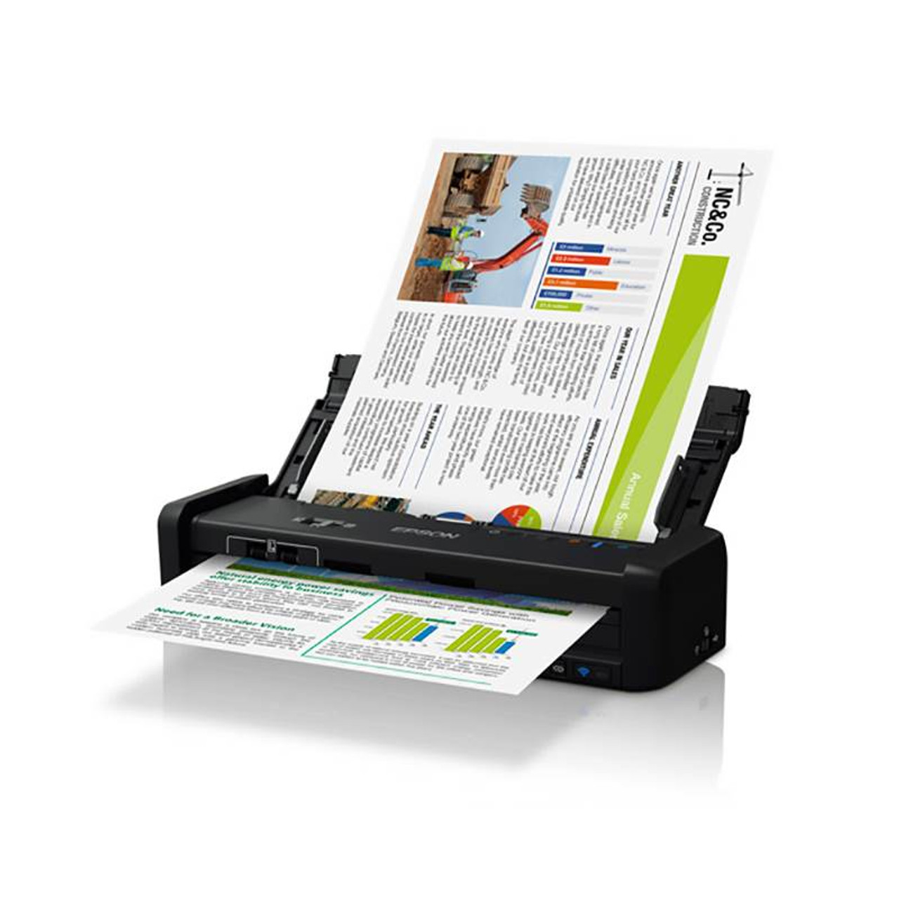 Image for Epson WorkForce DS-360W Wireless Sheet Feed Colour Document Scanner CX Computer Superstore