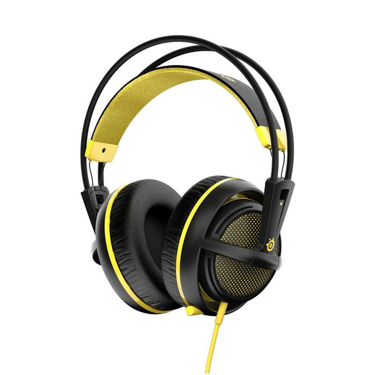 Product image for SteelSeries Siberia 200 Gaming Headset Proton Yellow   CX Computer Superstore