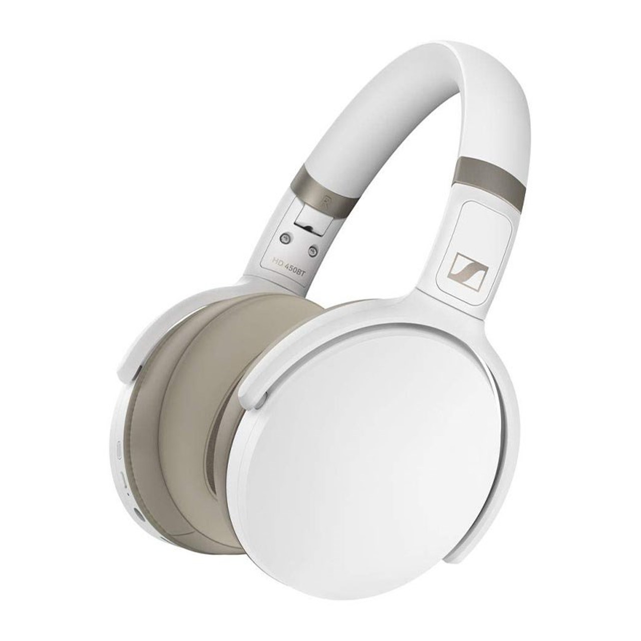 Image for Sennheiser HD 450BT Active Noise Cancelling Bluetooth Headphones - White CX Computer Superstore