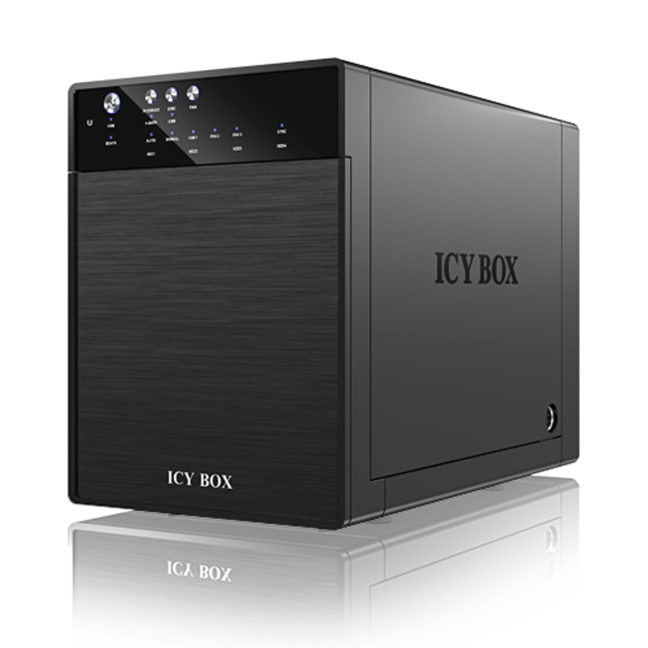 Product image for ICY BOX IB-3640SU3 External 4-bay JBOD system for 3.5 Inch SATA HDDs | CX Computer Superstore
