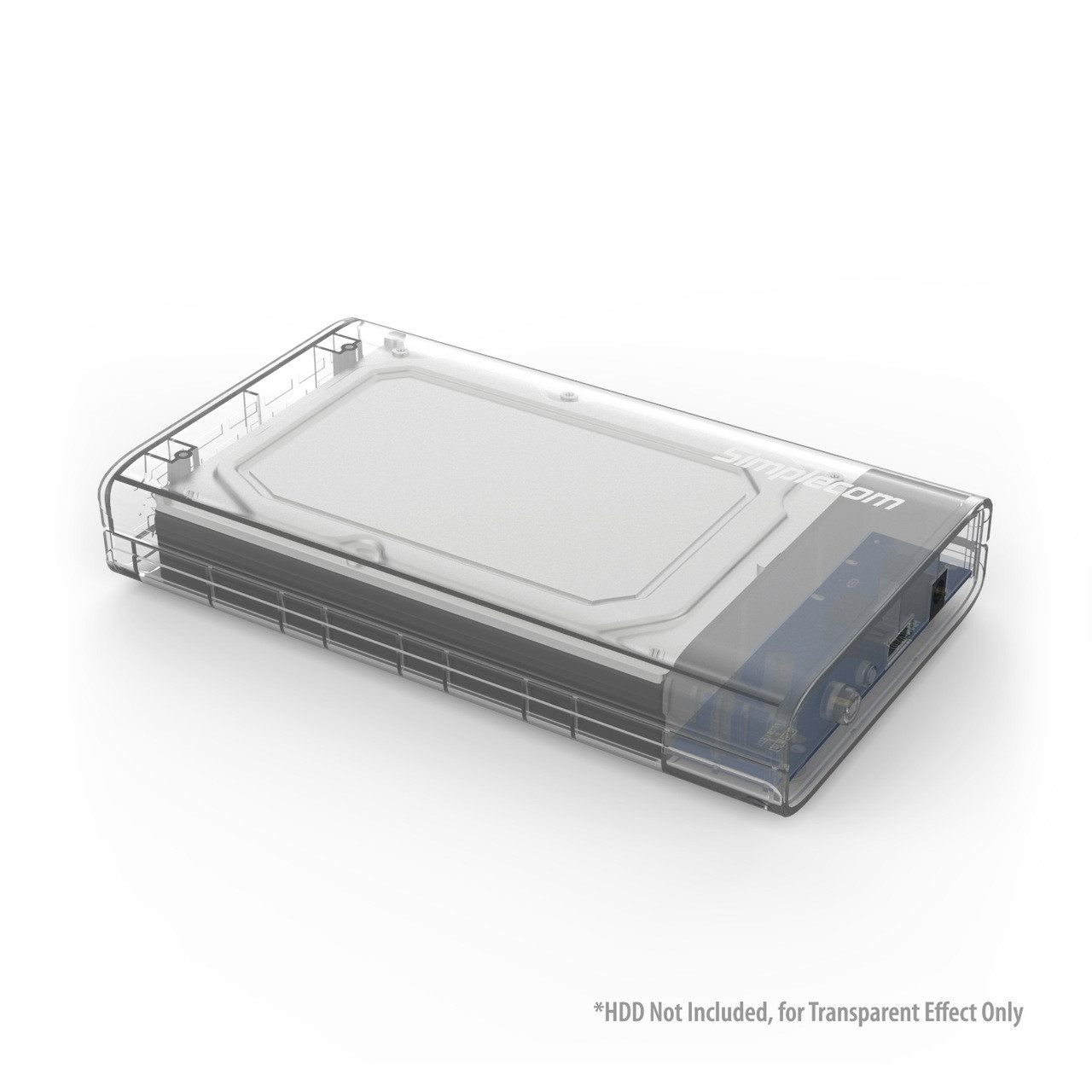 Product image for Simplecom 3.5in SATA to USB 3.0 Hard Drive Docking Box Clear | CX Computer Superstore