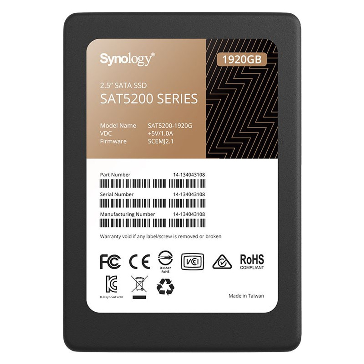 Image for Synology SAT5200 1.92TB 2.5in SATA Enterprise SSD CX Computer Superstore
