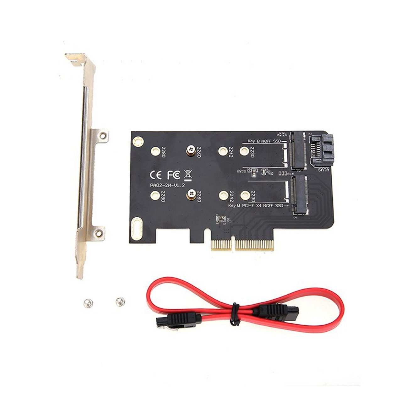 Product image for Simplecom EC412 Dual M.2 to PCI-E x4 and SATA Expansion Card | CX Computer Superstore