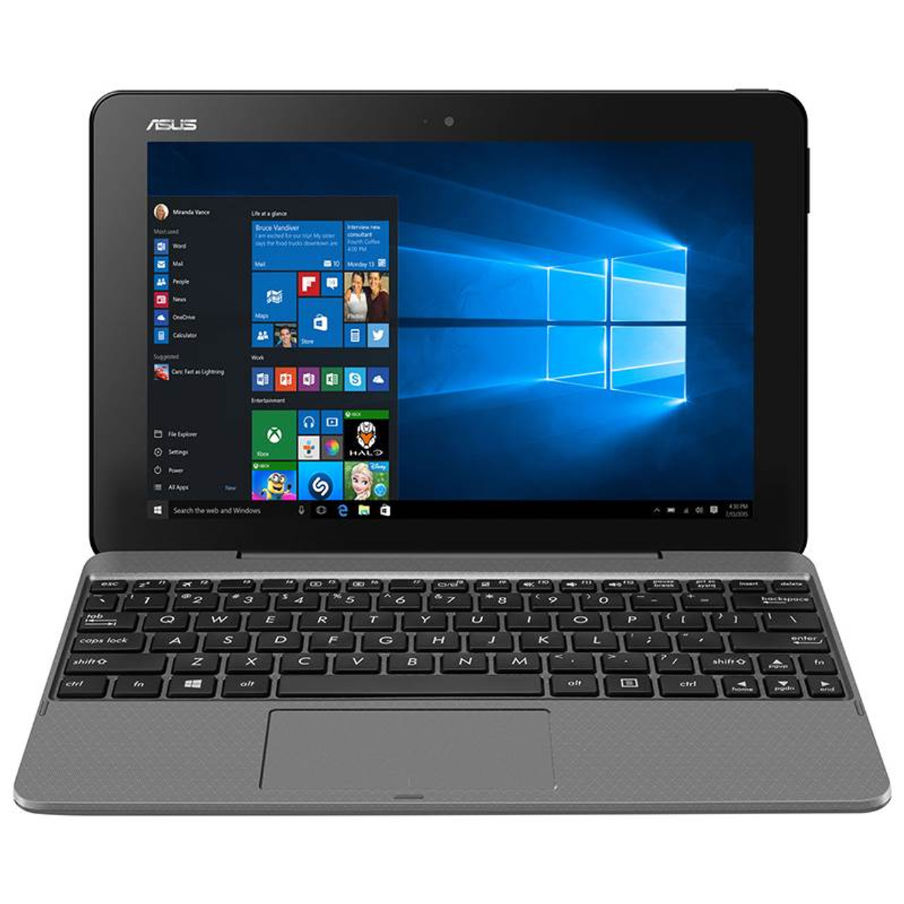 Image for Asus Transformer Book T101HA 10.1in Notebook Atom x5-Z8350 4GB 64GB Win10 Touch CX Computer Superstore
