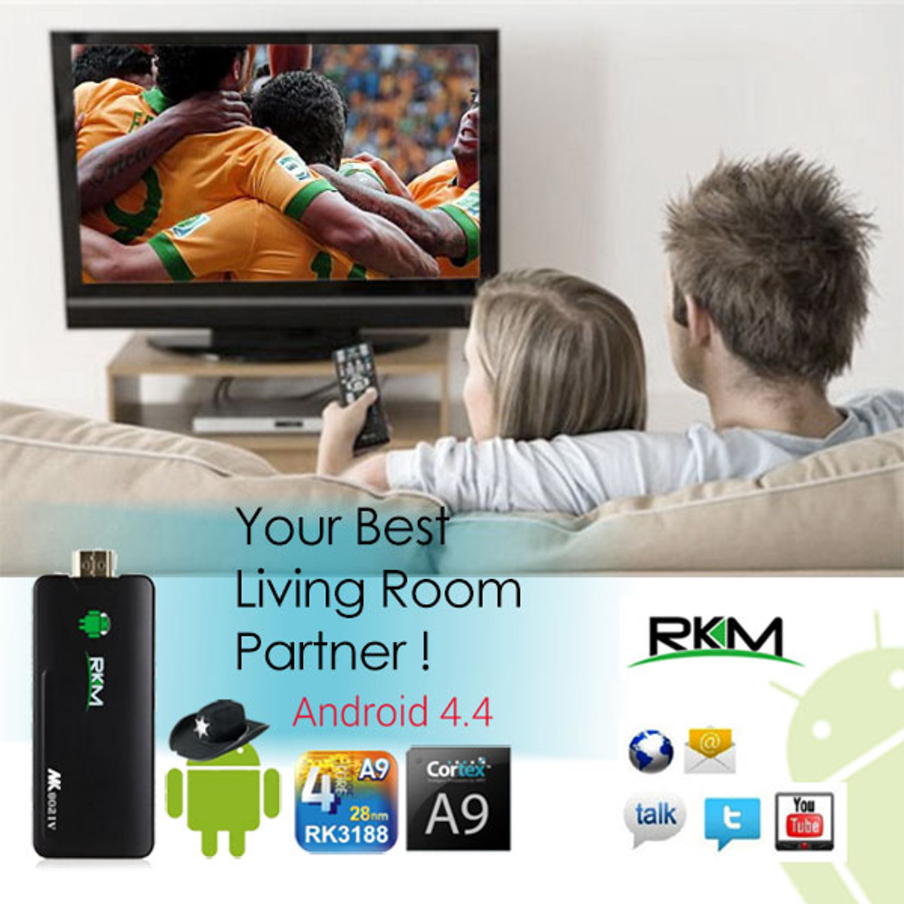 Product image for RKM Quad Core Android PC MK802 IV 8GB   CX Computer Superstore