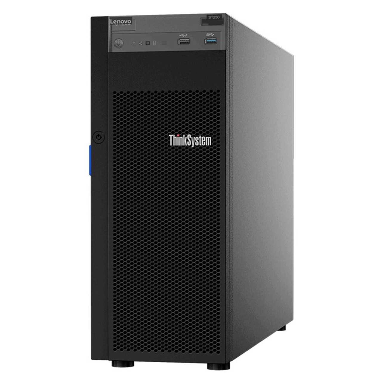 Product image for Lenovo ThinkSystem ST250 Tower Server Xeon E-2104G 16GB 1.2TB SAS (2/8) NO OS   CX Computer Superstore