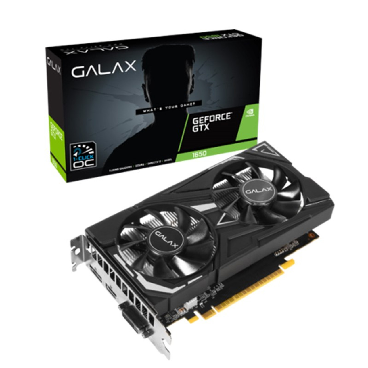 Image for Galax GeForce GTX 1650 EX 1-Click OC 4GB Video Card CX Computer Superstore