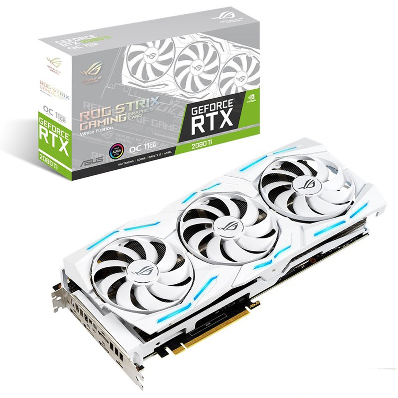 Image for Asus GeForce RTX 2080 Ti ROG Strix OC 11GB Video Card - White Edition CX Computer Superstore