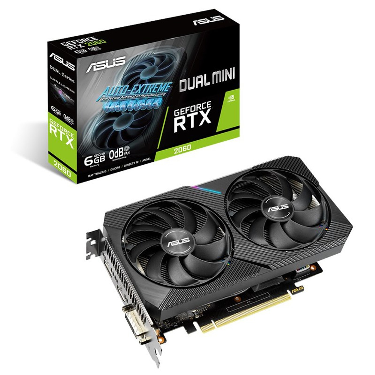 Image for Asus GeForce RTX 2060 Dual Mini 6GB Video Card CX Computer Superstore