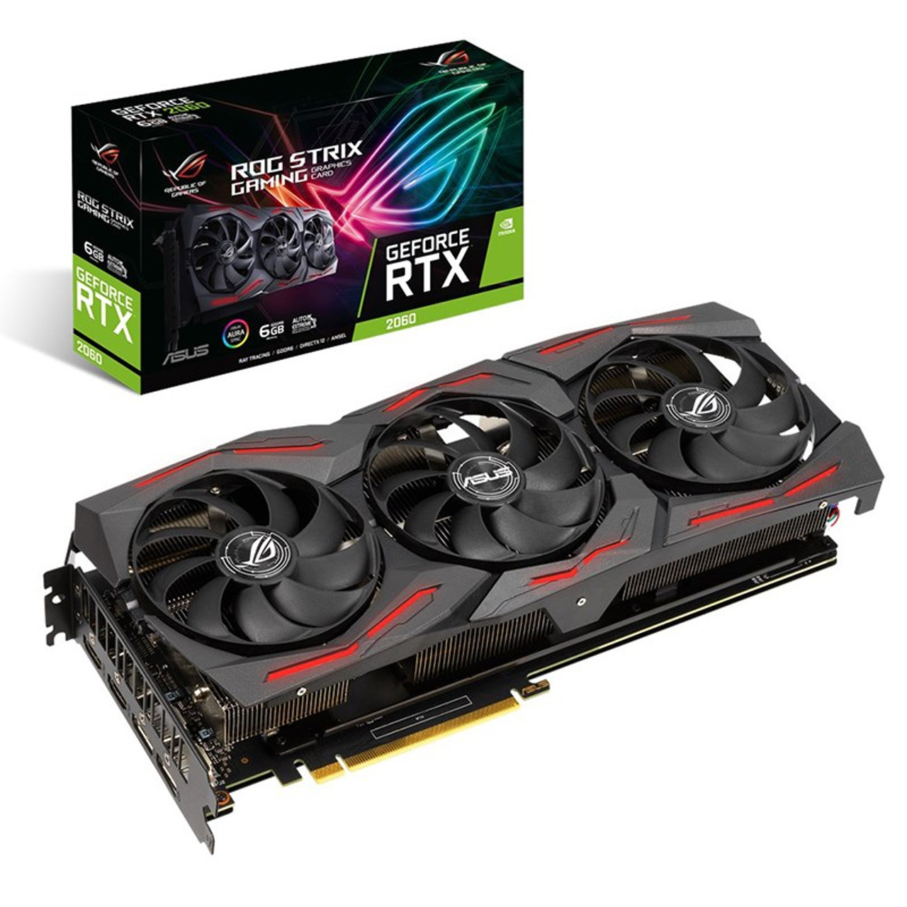 Image for Asus GeForce RTX 2060 ROG Strix EVO Gaming 6GB Video Card CX Computer Superstore