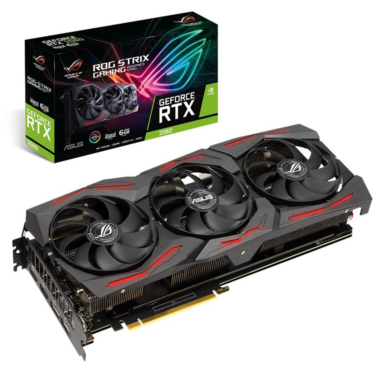 Image for Asus GeForce RTX 2060 ROG Strix EVO Gaming Advanced 6GB Video Card CX Computer Superstore