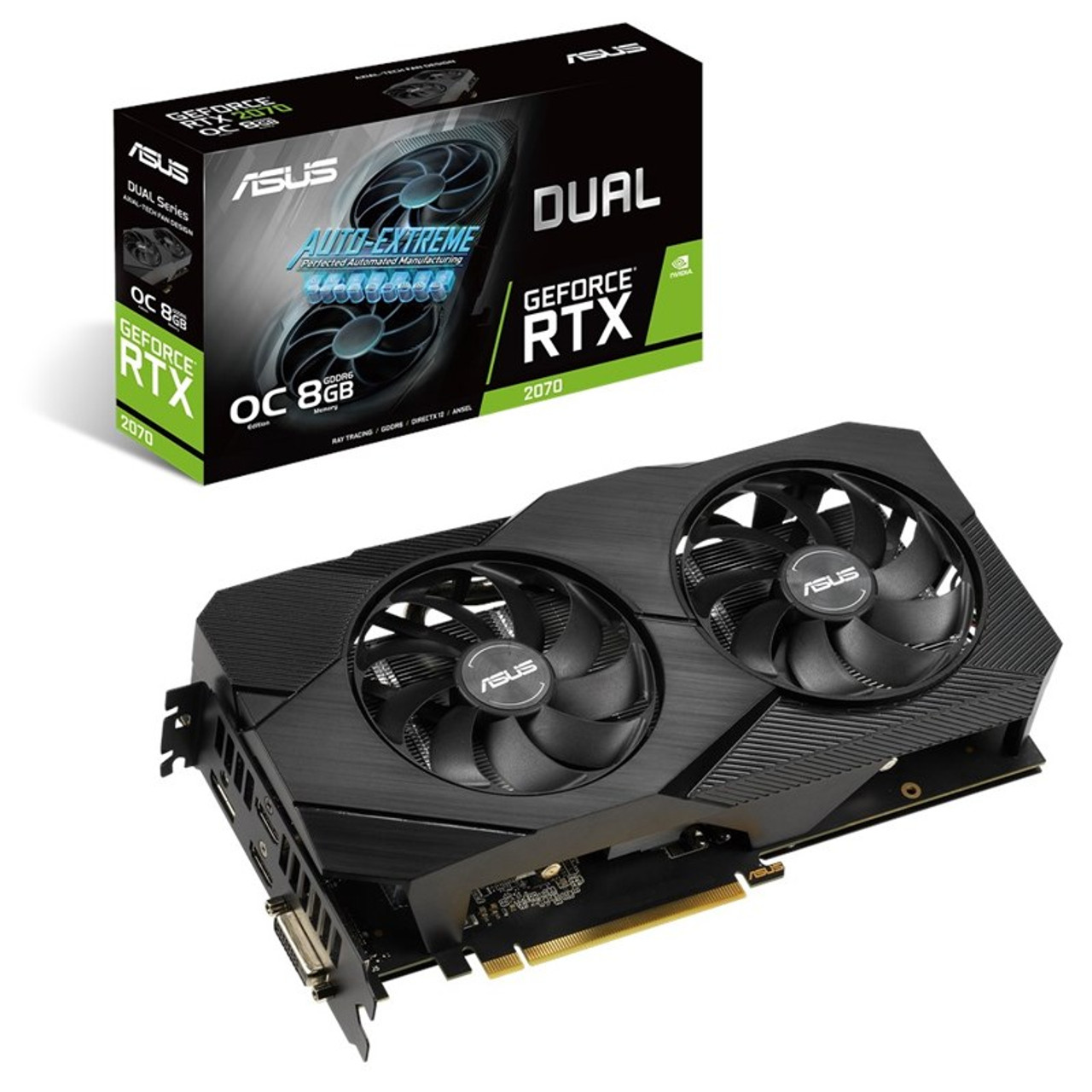 Image for Asus GeForce RTX 2070 Dual EVO OC V2 8GB Video Card CX Computer Superstore