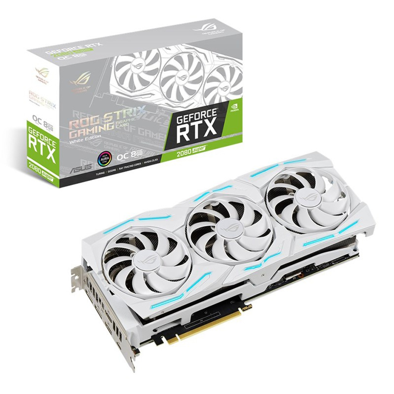 Image for Asus GeForce RTX 2080 SUPER ROG Strix OC 8GB Video Card - White Edition CX Computer Superstore