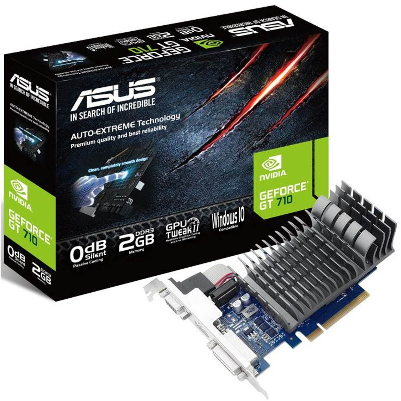 Image for Asus GeForce GT 710 2GB Silent Video Card CX Computer Superstore