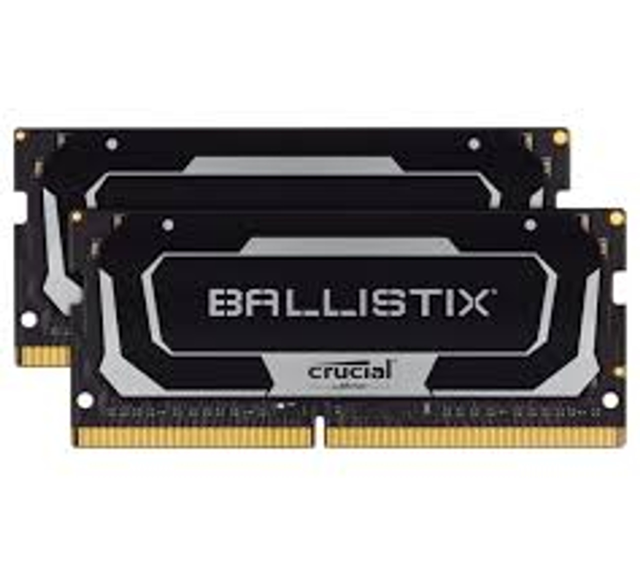 Crucial Ballistix 64GB (2x32GB) DDR4 SODIMM 3200MHz CL16 Black Aluminum Heat Spreader Intel XMP2.0 AMD Ryzen Notebook Gaming Memory