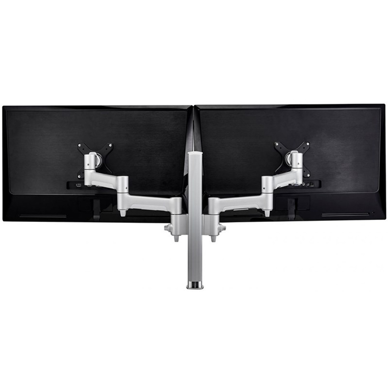 Image for Atdec AWMS-2-4640F-S 400mm Post Dual Articulating Monitor F Clamp - Silver CX Computer Superstore