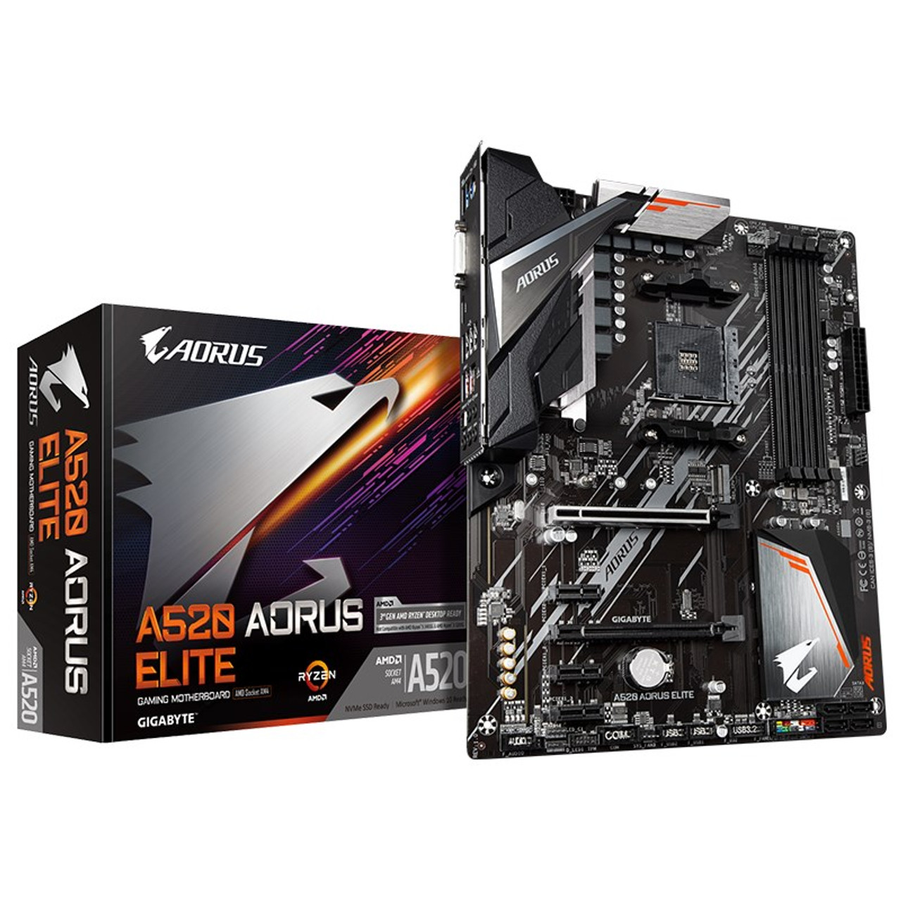 Image for Gigabyte A520 AORUS Elite AM4 ATX Motherboard CX Computer Superstore