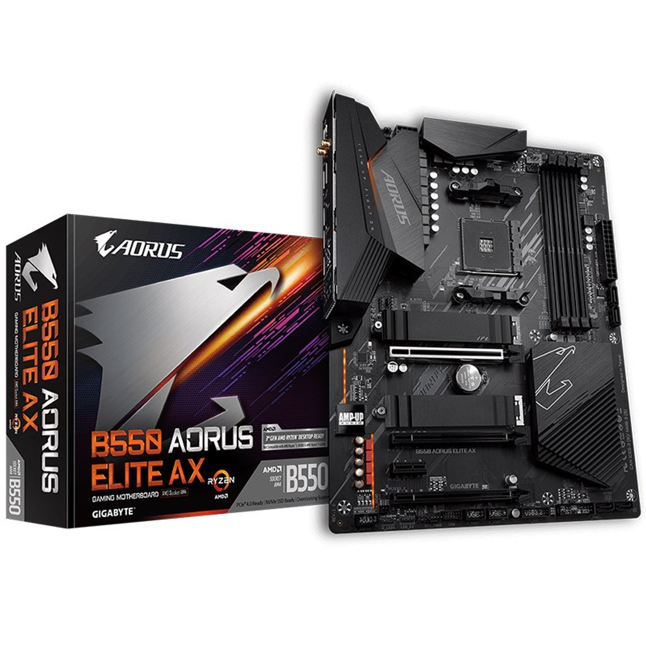 Image for Gigabyte B550 AORUS ELITE AX AM4 ATX Motherboard CX Computer Superstore