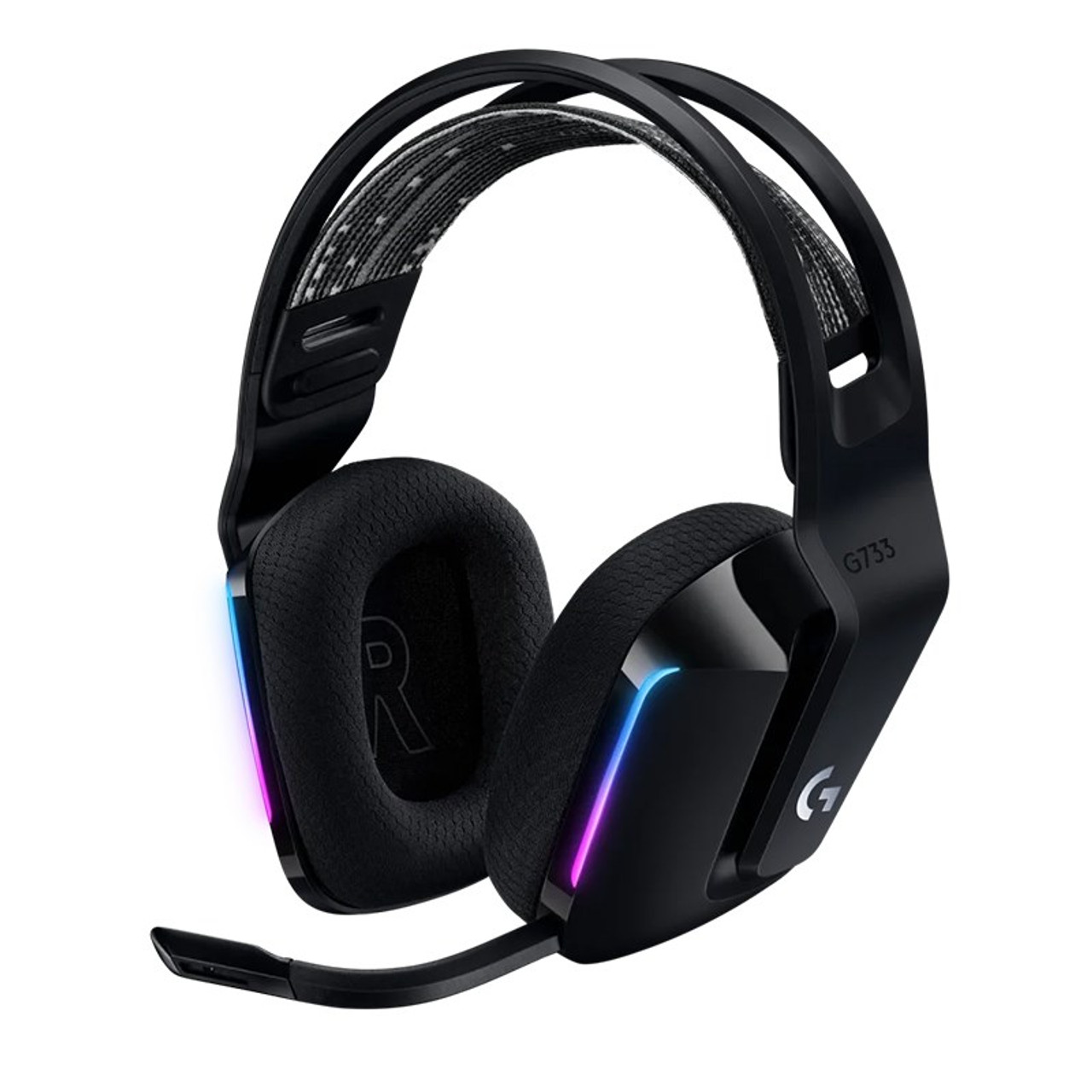 Image for Logitech G733 LIGHTSPEED Wireless RGB Gaming Headset - Black CX Computer Superstore