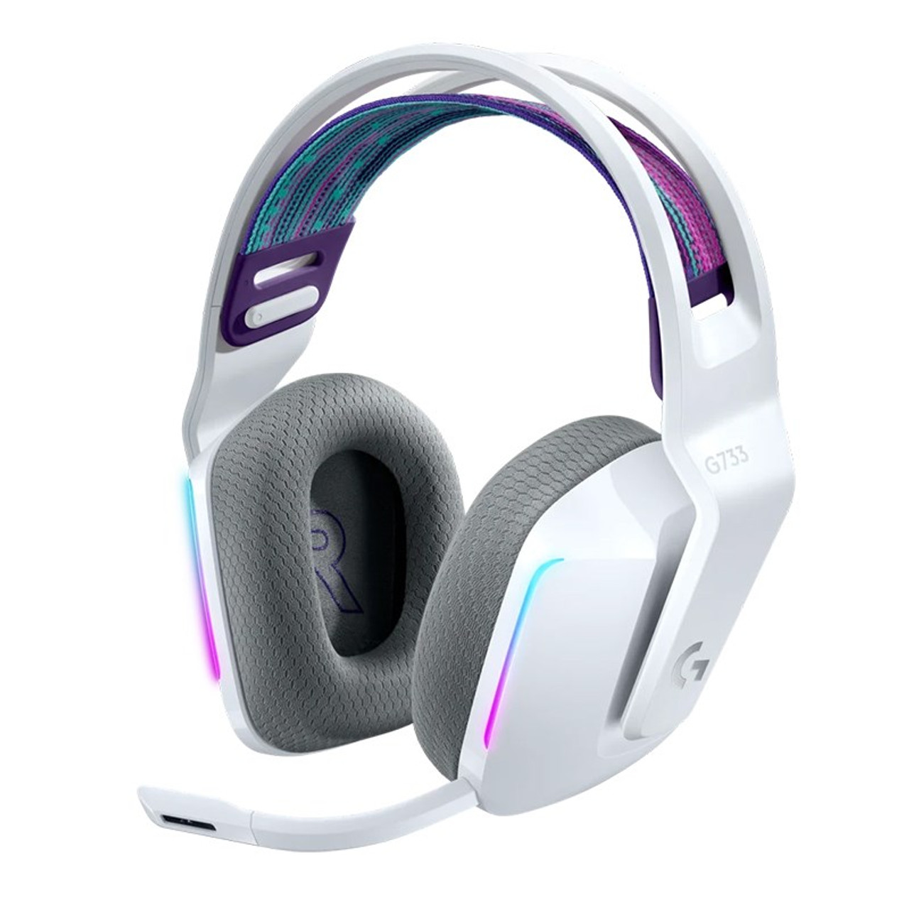 Image for Logitech G733 LIGHTSPEED Wireless RGB Gaming Headset - White CX Computer Superstore