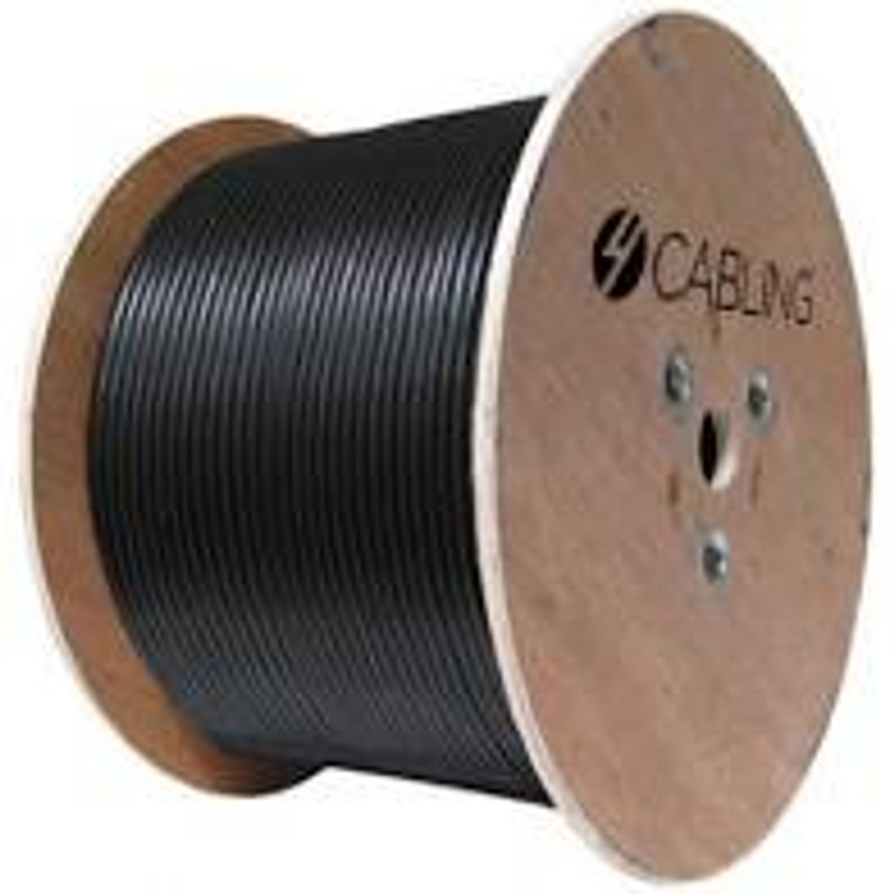 4Cabling Cat 6 UTP LAN Outdoor UV Stabilised Cable - 305m Roll on a Reel: Black