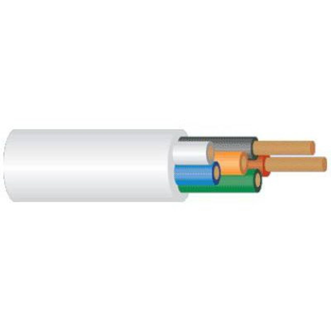 4Cabling 6 Core Security Cable 14/0.20mm - 300m - Grey
