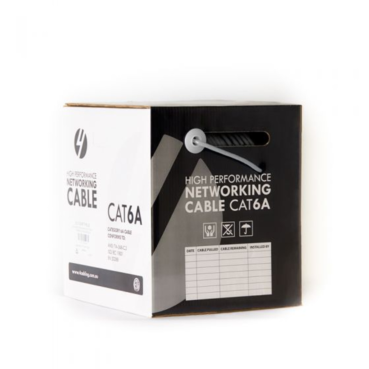 4Cabling CAT6A S/FTP LSZH Solid Core Cable Roll 305m : 23AWG: GREY