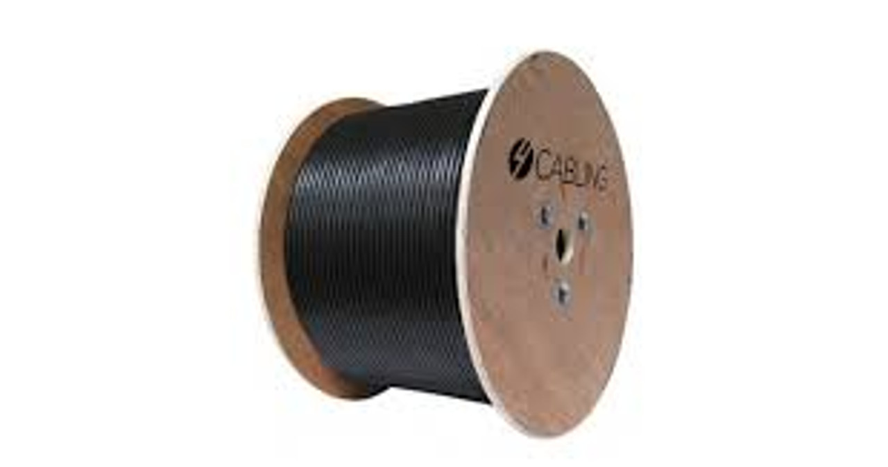 4Cabling Cat 6 UTP LAN Outdoor GEL Filled Cable - 305m Roll on a Reel: Black